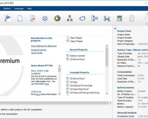 نرم افزار PVSOL Premium