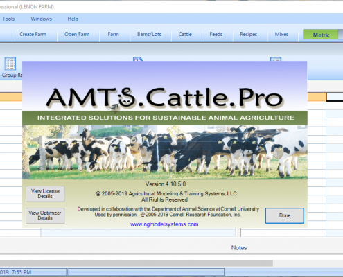 نرم افزار AMTS Cattle Professional